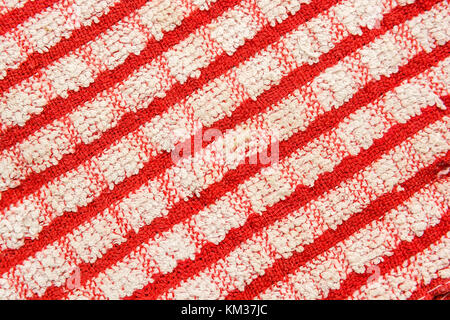 Red and white striped seamless cloth background - Stock Photo