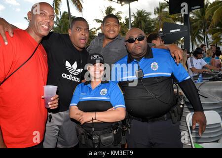 MIAMI BEACH, FL - FEBRUARY 08: Actor Omar Benson Miller parties in South Beach on February 8, 2015 in Miami Beach, - Stock Photo