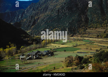 Spain. Catalonia. Arros de Cardos. Pallars Sobirà district. Province of Lleida. Landscape. - Stock Photo