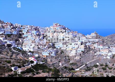 Olympos town in karpathos - Stock Photo