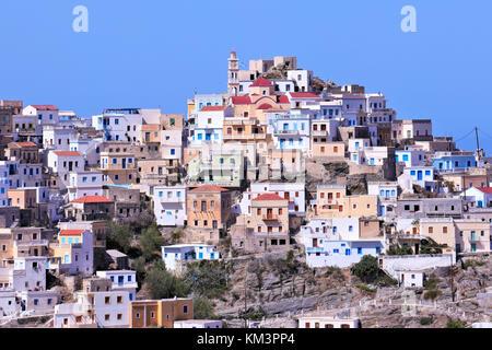 Olympos town close up in karpathos - Stock Photo