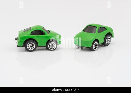 Toy cars - Metaphor for anything to do with motoring / automobiles / autos, Car Tax, green energy, low-emission - Stock Photo