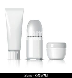 Realistic Cosmetic bottle can sprayer container. - Stock Photo