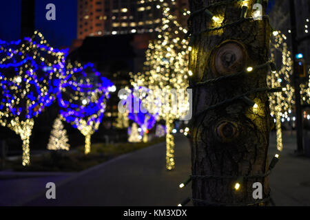 From, Public Square, in downtown Cleveland, OH - Stock Photo