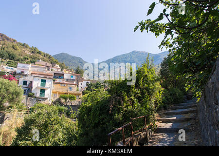 Pespective view of Acquafredda di Maratea, a little village in Basilicata, Italy. - Stock Photo