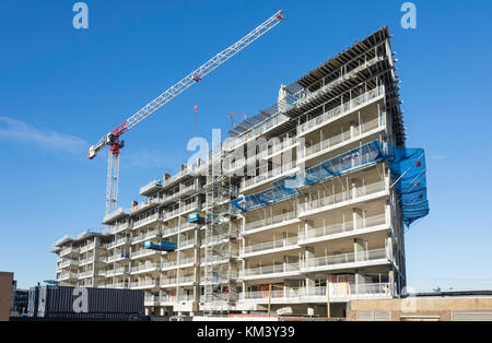Building under construction, Bracknell, Berkshire, England, United Kingdom - Stock Photo
