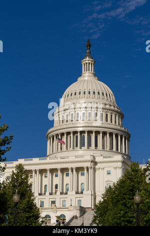 The dome of the United States Capitol, often called the Capitol Building, Washington DC, USA. - Stock Photo