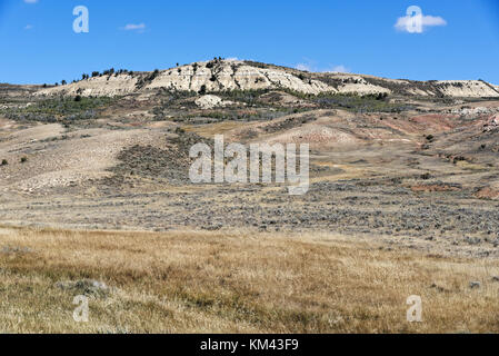 Fossil Butte National Monument near Diamondville, Wyoming - Stock Photo