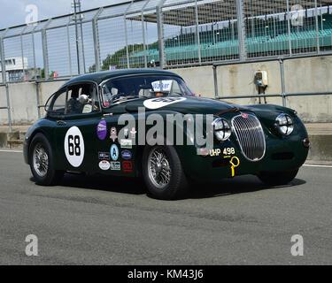 Marc Gordon, Jaguar XK150, Stirling Moss Trophy, pre 61 Sports Cars, Silverstone Classic, July 2017, Silverstone, - Stock Photo