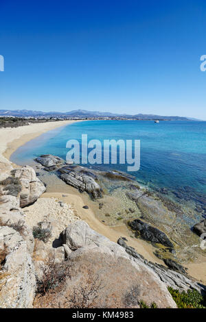 Agios Prokopios beach in Naxos island, Greece - Stock Photo