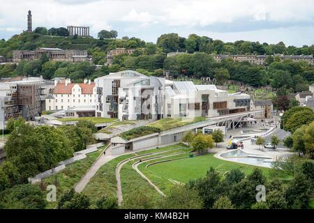 UK: The Scottish Parliament Building in Edinburgh. Photo from 12. September 2017. | usage worldwide - Stock Photo