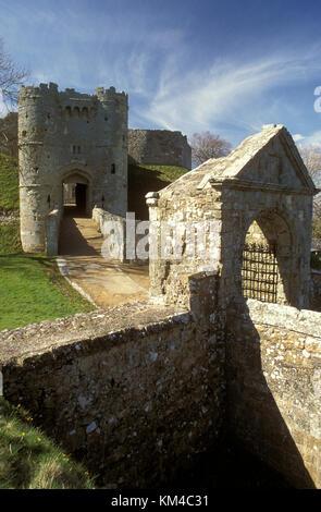 Carisbrooke Castle, Isle of Wight, Hampshire, England - Stock Photo
