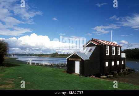 Newport Rowing Club, Medina River, Newport, Isle of Wight, Hampshire, England - Stock Photo