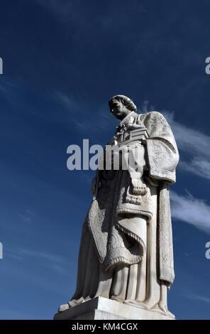 statue;sao vicente;largo das portas do sol;alfama;lisbon;portugal - Stock Photo