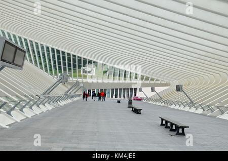 The new Railway Station of Liège (Belgium) - Stock Photo