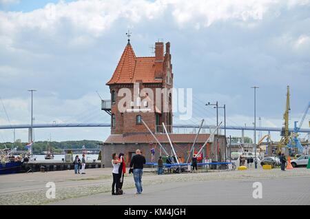 Stralsund (Mecklenburg-Vorpommern, Germany): At the harbour - Stock Photo
