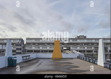 Flats of Thamesmead designed by GLC Department of Architecture and Civic Design 1967-1974 - Stock Photo