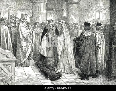 Marriage of Henry I and Matilda, 11 November 1100 - Stock Photo