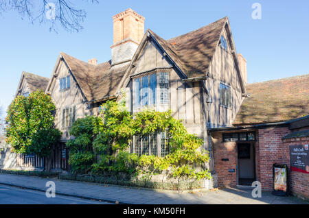 Hall's Croft in Old Town, Stratford-upon-Avon which was the Jacobean house of Shakespeare's daughter Susanna - Stock Photo