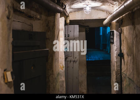 Corridor in Historical and Memorial Museum of Political Prisoners in Ternopil city, administrative center of Ternopil - Stock Photo