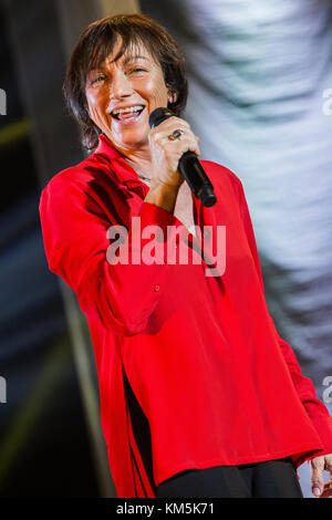 Milan Italy. 04th December 2017. The Italian singer-songwriter GIANNA NANNINI performs live on stage at Mediolanum - Stock Photo