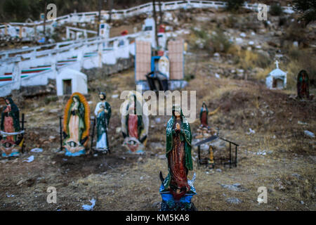 In the next few days the pilgrimage of believers, faithful and devoted to the Virgin of Guadalupe, mother of Jesus - Stock Photo