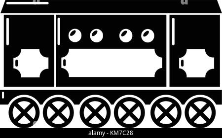 Compartment carriage icon, simple style - Stock Photo