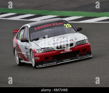 Chris Beighton, Honda Accord, Super touring car trophy, Silverstone Classic, July 2017, Silverstone, 60's cars, - Stock Photo