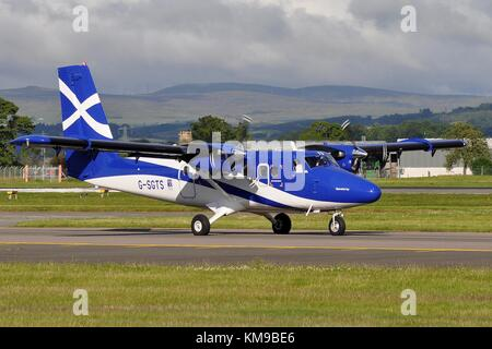 G-SGTS DHC-6-400 TWIN OTTER OF THE SCOTTISH GOVERNMENT AND OPERATED BY LOGANAIR. - Stock Photo