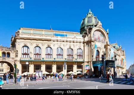 Obecni dum (1905-1911, A. Balsanek, O. Polivka), Stare Mesto (UNESCO), Praha, Ceska republika / Art Nouveau Municipal - Stock Photo