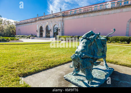 The John and Mable Ringling Museum of Art in Sarasota Florida - Stock Photo