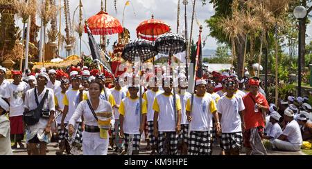 Panca Wali Krama, holy Celebration at Besakih temple every ten years, Bali, Indonesia - Stock Photo