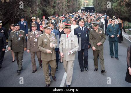 North Atlantic Treaty Organization (NATO) defense chiefs arrive for the opening ceremony of the NATO Military Committee - Stock Photo