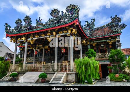Penang, Malaysia - September 3, 2013: Famous Chinese clanhouse Leong San Tong Khoo Kongsi Chinese temple, a major - Stock Photo