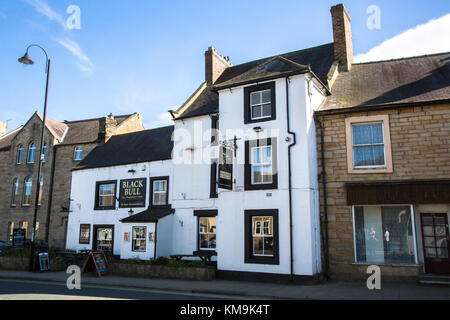 The Black Bull, an English pub in Wolsingham, Bishop Auckland, County Durham, England - Stock Photo