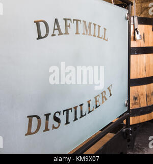 Daftmill Distillery, by Cupar, Fife, Scotland is one of Scotland's newest distilleries, using barley from its own - Stock Photo