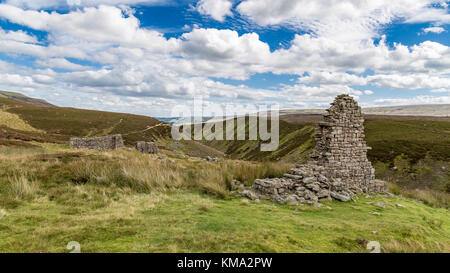 Surrender Smelt Mill, between Feetham and Langthwaite, Yorkshire Dales, near Richmond, North Yorkshire, UK - Stock Photo
