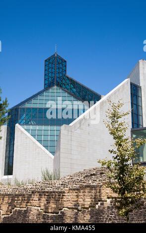 Museum of modern art, Kirchberg, Luxembourg-city, Luxembourg, Europe - Stock Photo