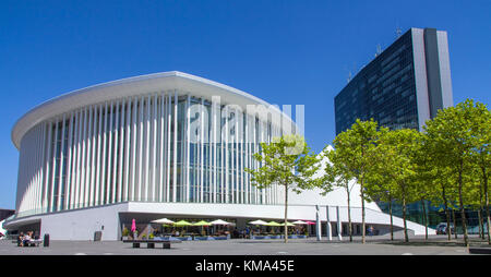 Philharmonic hall Luxembourg at Place de l'europe, Kirchberg plateau, Luxembourg-city, Luxembourg, Europe - Stock Photo