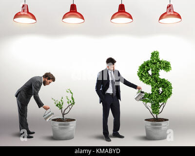 Ambition and skill of a businessman. 3D Rendering - Stock Photo