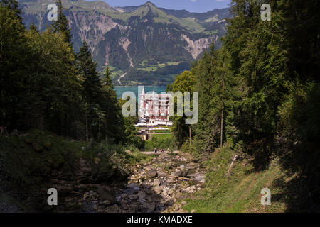 Grand Hotel Giessbach, Switzerland - Stock Photo