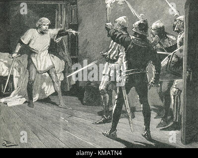 Capture of Richard I (the Lionheart) by Austrian soldiers, December 1192 - Stock Photo