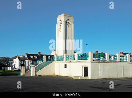The Clock Tower, Seaton Carew, County Durham, England UK - Stock Photo