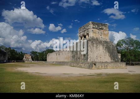 Stadium Maya for ball game. 'Juego de Pelota' , Chichen-Itza , Mexico - Stock Photo