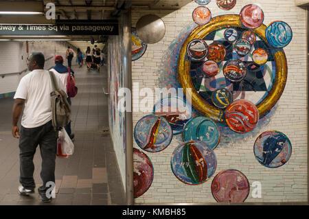 NYC subway stations in Manhattan - Stock Photo