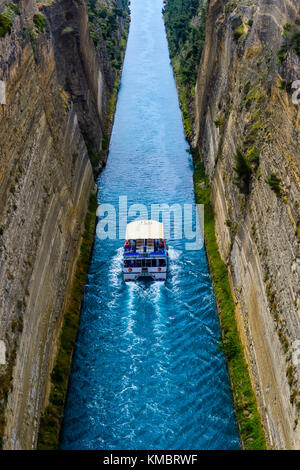 The Corinth Canal in Greece - Stock Photo