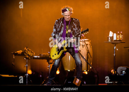 Germany, Duesseldorf - October 09, 2017. The Rolling Stones, the legendary English rock band, performs a live concert - Stock Photo