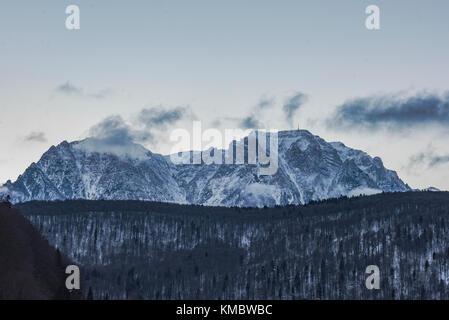 Winter landscape in Carpathians, Romania - Stock Photo