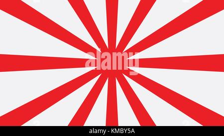 Red sun japan graphic background vector - Stock Photo