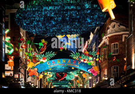 Carnaby Street Christmas Lights 2017 - Stock Photo